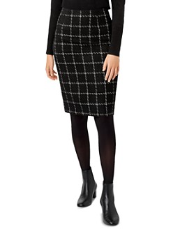 HOBBS LONDON - Ashley Windowpane Bouclé Pencil Skirt