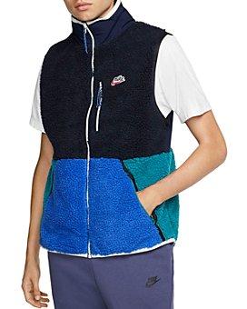 Nike - Color-Block Mixed-Media Vest