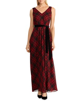 Ralph Lauren - Tartan Plaid Georgette Gown