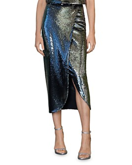 ML Monique Lhuillier - Sequined Midi Skirt
