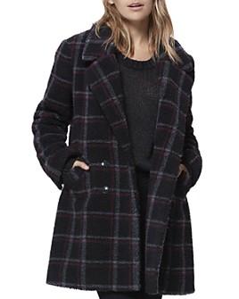 PAIGE - Sabinah Plaid Faux-Shearling Coat