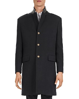 The Kooples - Ninfetta Leather-Collar Top Coat