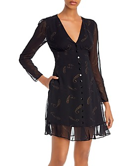 The Kooples - Flying Paisley Mini Dress