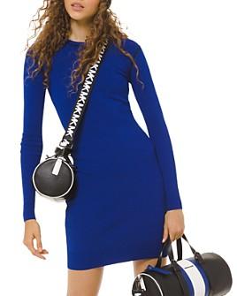 MICHAEL Michael Kors - Long-Sleeve Logo-Trim Mini Dress