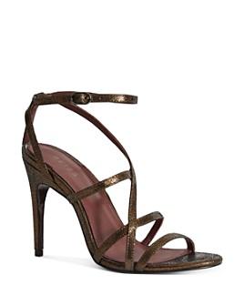 REISS - Women's Dana Leather High-Heel Sandals