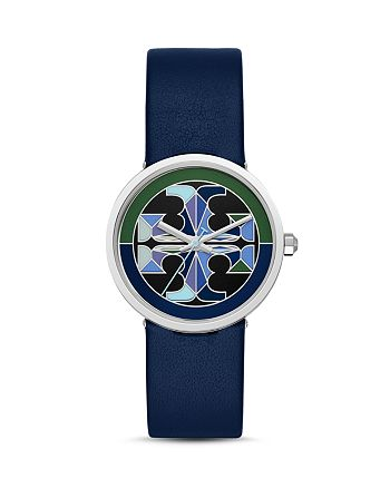Tory Burch - Reva Leather Strap Watch, 36mm