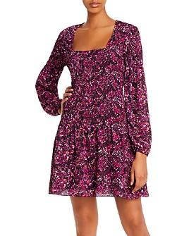 Parker - Tiara Smocked Long-Sleeve Dress