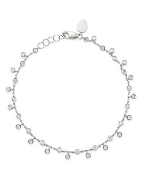Meira T - 14K White Gold Diamond Bezel Fringe Bracelet