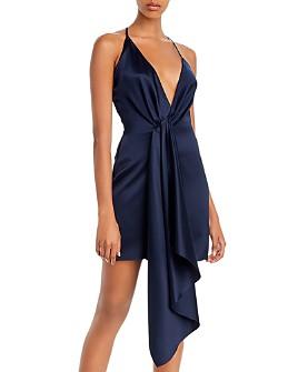 Cushnie - Drape-Detail Silk Mini Dress
