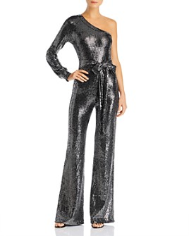 PAM & GELA - Mirror Ball Sequined Jumpsuit