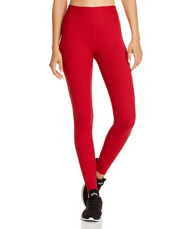 Year Of Ours Ribbed Jogger Leggings In Red