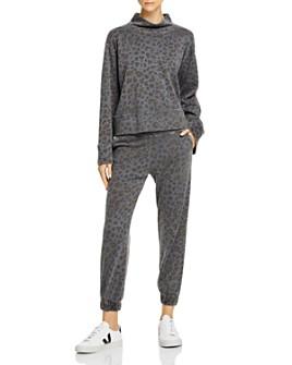 Sundry - Leopard-Print Funnel-Neck Sweatshirt & Sweatpants