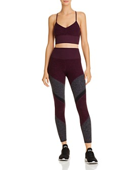 Alo Yoga - Alosoft Sports Bra & High-Rise Leggings