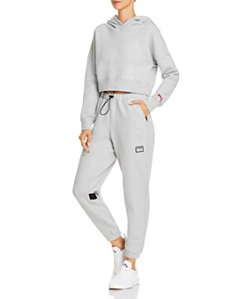 PUMA - x Adriana Lima Cropped Sweatshirt & Drawcord Sweatpants