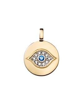 CHARMBAR - Reversible Evil Eye Charm in Sterling Silver or 14K Gold-Plated Sterling Silver