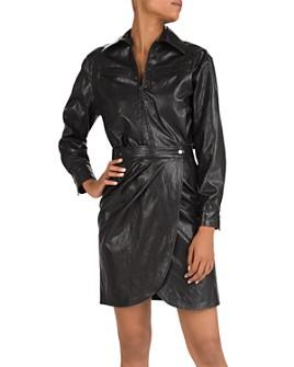 ba&sh - Sophia Faux Leather Dress