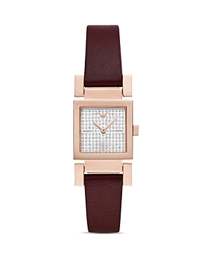 Armani Collezioni  SQUARE DIAL LEATHER STRAP WATCH, 22MM X 22MM