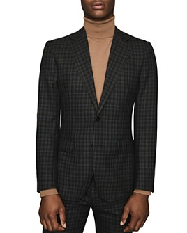 REISS - Livesey B Wool Gingham Slim Fit Blazer
