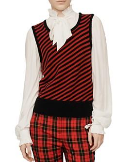 Maje - Maela Sweater Vest Overlay Top