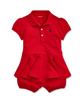 Ralph Lauren - Girls' Peplum Polo Shortall - Baby