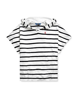 Ralph Lauren - Girls' Striped Terry Swim Cover-Up - Big Kid