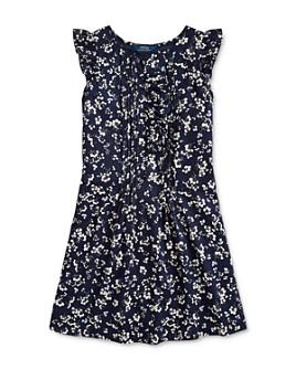 Ralph Lauren - Girls' Pintucked Floral Print Dress - Big Kid