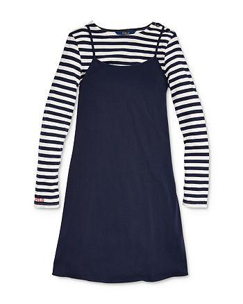 Ralph Lauren - Girls' Striped Tee & A-Line Dress Set - Big Kid