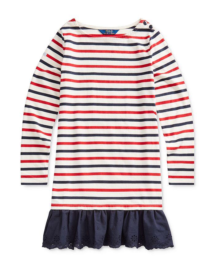 Ralph Lauren - Girls' Striped Drop-Waist Dress - Big Kid