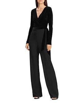 Ralph Lauren - Velvet-Bodice Jersey Jumpsuit