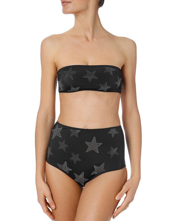 Stella McCartney - Studded Stars Bandeau Bikini Top & High-Waist Bikini Bottom