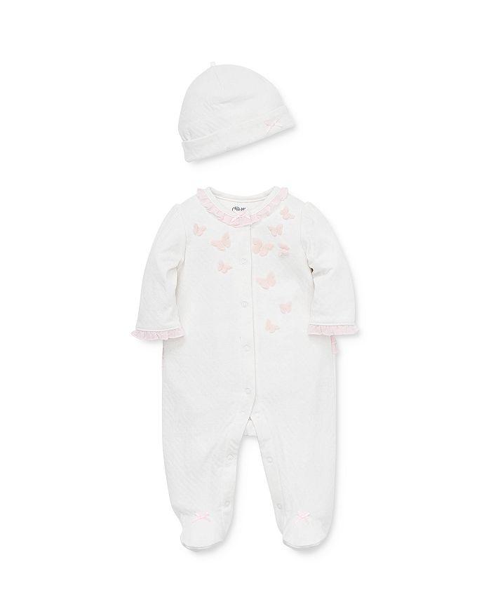 Little Me - Girls' Butterfly Footie & Hat Set - Baby