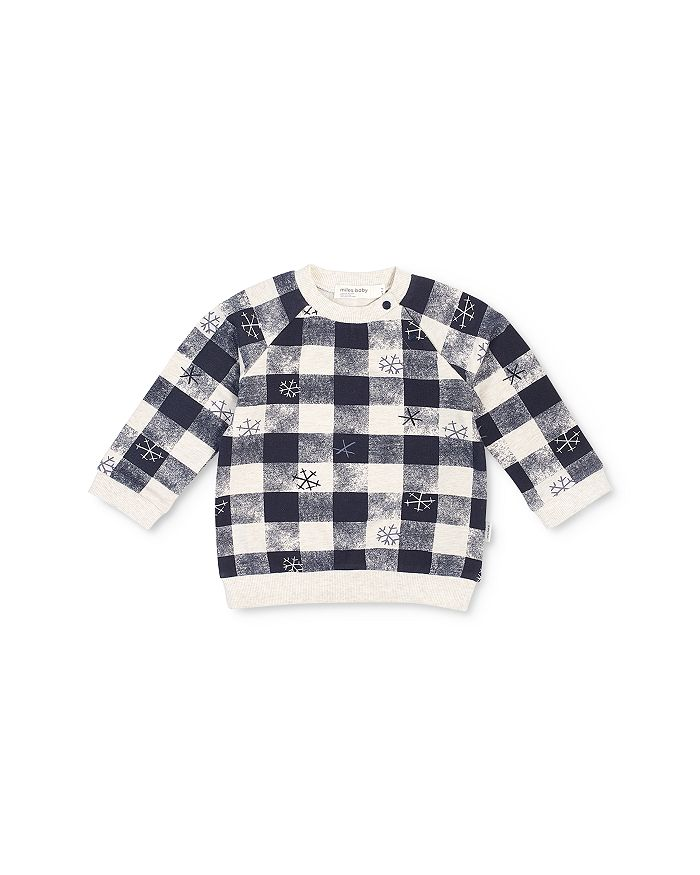 Miles Baby - Boys' Checkered Snowflake Sweatshirt - Baby