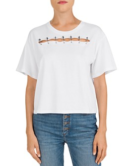 The Kooples - Cutout Pin-Detail Tee