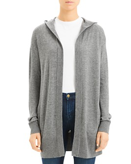 Theory - Cashmere Hooded Open Front Cardigan