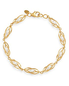 Bloomingdale's - Freshwater Pearl Cage Bracelet in 14K Yellow Gold - 100% Exclusive