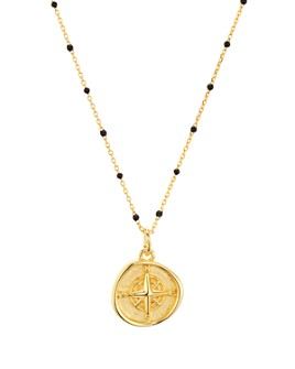 """Argento Vivo - North Star Pendant Necklace in 18K Gold-Plated Sterling Silver, 16""""-18"""""""