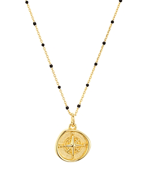 North Star Pendant Necklace in 18K Gold-Plated Sterling Silver