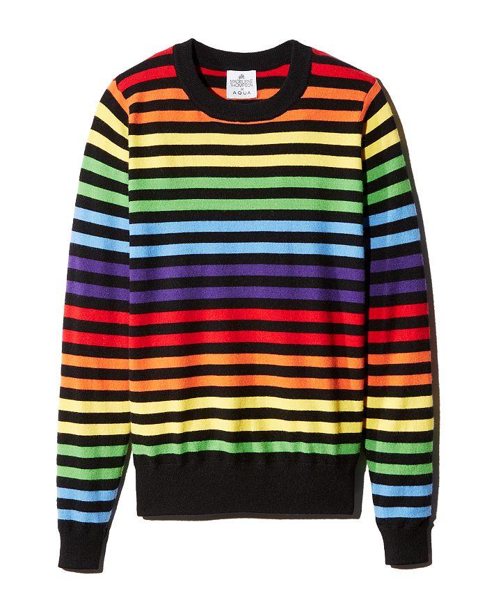 AQUA - Rainbow-Stripe Sweater - 100% Exclusive