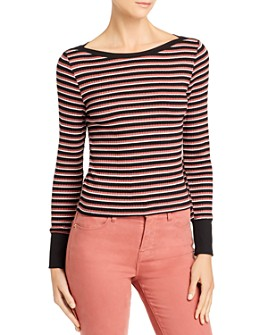 FRAME - Striped Boatneck Top
