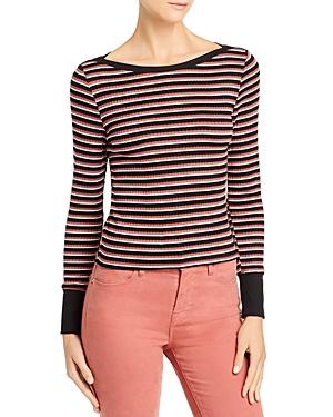 Frame Striped Boatneck Top-Women