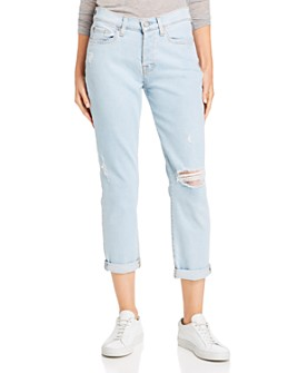 7 For All Mankind - Josefina Ankle Boyfriend Jeans in Luxe Vintage Snowbird