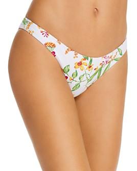 AQUA - Floral Basic Scoop Bikini Bottom - 100% Exclusive