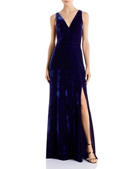 Laundry by Shelli Segal - V-Neck Velvet Gown - 100% Exclusive