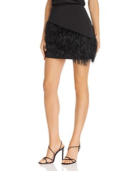 Parker - April Faux-Feather-Embellished Mini Skirt