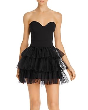 Likely Dresses GLYNN STRAPLESS TULLE-SKIRT MINI DRESS