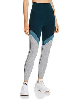 Beyond Yoga - Color-Block Space-Dye Leggings