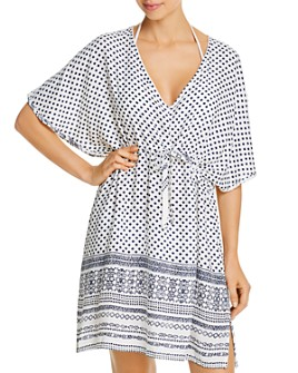 J. Valdi - V-Neck Caftan Swim Cover-Up
