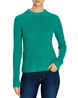 525 - Ribbed-Knit Shaker Sweater
