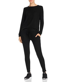Beyond Yoga - Your Line Ribbed-Knit Top & Sweatpants