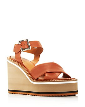Clergerie - Women's Noemie Crisscross Platform Wedge Sandals